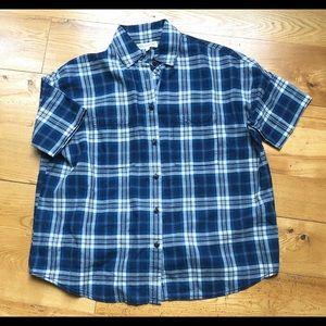 Madewell Plaid Short Sleeve Button Down Shirt